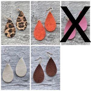 Jewelry - 4/$24 Small Teardrop Handmade Earrings